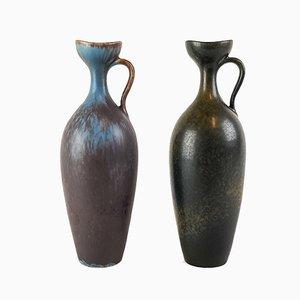 Jarrones de cerámica de Gunnar Nylund para Rörstrand, años 50. Juego de 2