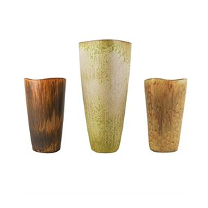 Mid-Century Ceramic Vases by Gunnar Nylund for Rörstrand, Set of 3