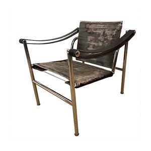 LC1 Corbusier Sessel von Charlotte Perriand & Jeanneret für Cassina, 1960er