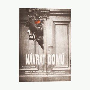 Vintage Coming Home Movie Poster by Vratislav Ševčík, 1981