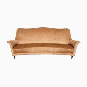 Geschwungenes italienisches Mid-Century Sofa, 1960er