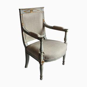 Antiker schwedischer Armlehnstuhl, 1810er