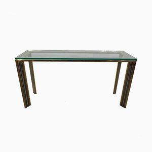 Table Console en Chrome et Laiton, France, 1970s
