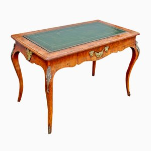 19th-Century Kingwood & Walnut Writing or Center Table with Ormolu Mounts
