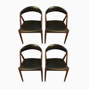 Model 31 Teak Dining Chairs by Kai Kristiansen for Schou Andersen, 1960s, Set of 4