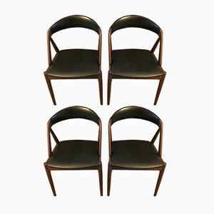 Sedie da pranzo nr. 31 in teak di Kai Kristiansen per Schou Andersen, anni '60, set di 4