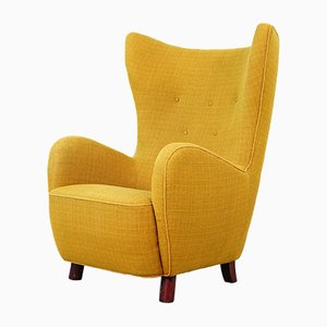Danish Wing Chair by Mogens Lassen, 1940s
