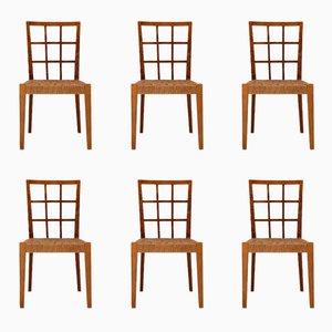 Stühle aus Rattan von Paolo Buffa, 1950er, 6er Set