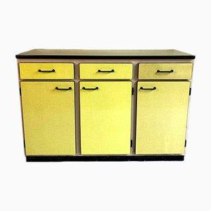 Gelbes Vintage Sideboard aus Resopal, 1960er