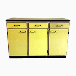 Vintage Yellow Formica Sideboard, 1960s