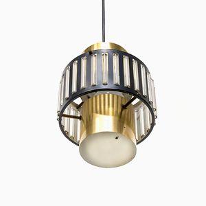 Lampe à Suspension en Métal, Pays-Bas, 1970s