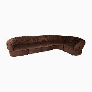 Modular Curved Sofa & Armchair Set, 1970s