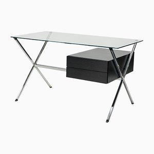 Bureau en Laque et Chrome par Franco Albini pour Knoll International, 1950s