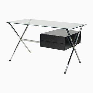 Schreibtisch aus Lack & Chrom von Franco Albini für Knoll International, 1950er