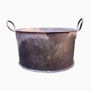 Macetero francés antiguo de zinc