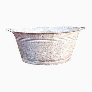 Grand Cache-Pot Vintage en Zinc, France
