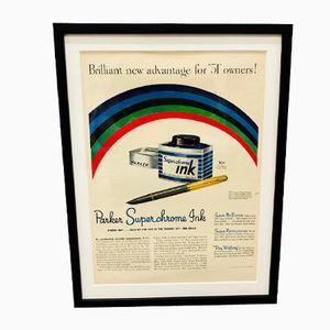 Vintage Parker Tintenwerbung, 1950er