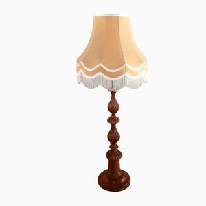 Carved Wood Floor Lamp, 1950s
