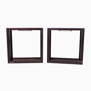 Antique Mahogany Museum Display Cases, Set of 2