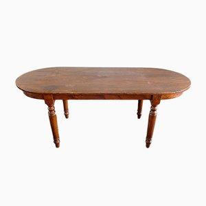 Ovaler Vintage Tisch aus Tannenholz