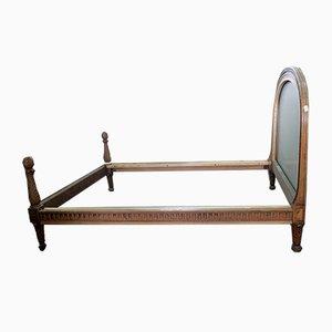 Sofá cama francés antiguo de acacia