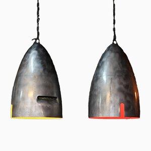 Grandes Lampes à Suspension d'Aéronautique, Set de 2