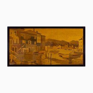Grand Panneau Décoratif par Rosenau, 1940s