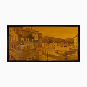 Pannello decorativo grande di Rosenau, anni '40