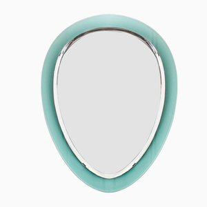 Beveled Aqua Green Mirror, 1960s