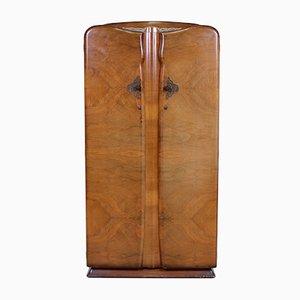 Art Deco Kleiderschrank Aus Nussholz