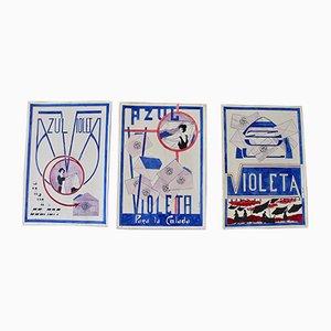 Vintage Werbeplakate, 3er Set