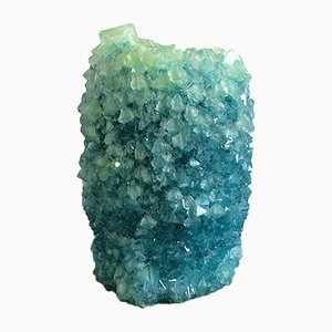 Türkisgrüne 2 Crystal Vase von Isaac Monté, 2019