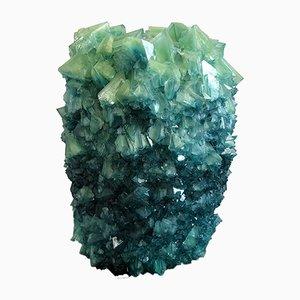 Vase Crystal Teal 3 par Isaac Monté, 2019