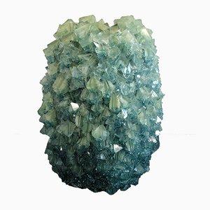 Jarrón Crystal 4 en azul verdoso de Isaac Monté, 2019