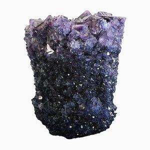 Blaue Crystal Vase von Isaac Monté, 2019