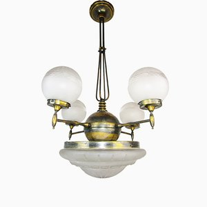 Large Art Deco Ceiling Lamp, 1900s