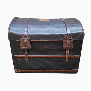 Antique French Leather Trunk