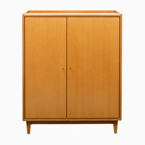 Small Ash Linen Cupboard, 1950s