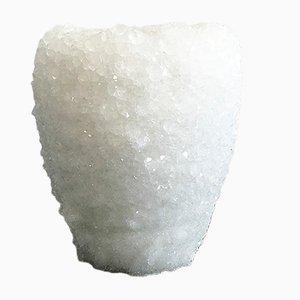 Mittelgroße weiße 2 Crystal Vase von Isaac Monté, 2019