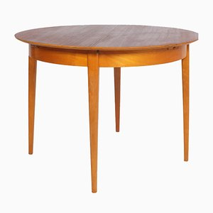TB35 Round Teak & Birch Table by Cees Braakman for Pastoe, 1960s