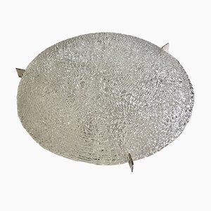 Plafón Mid-Century grande de vidrio texturizado de Kaiser Leuchten