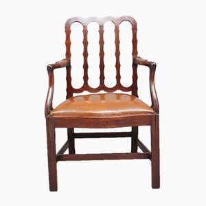 19th-Century Mahogany Desk Chair