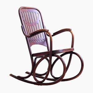 Sedia a dondolo nr. 71 antica in legno curvato di Thonet