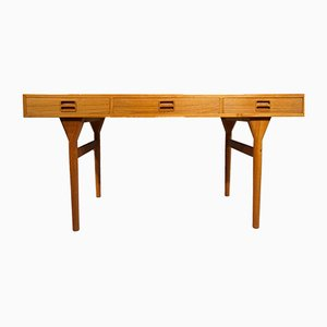 Vintage Teak Desk by Nanna Ditzel for Søren Willadsen Møbelfabrik, 1960s