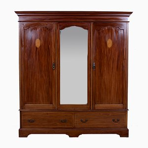 Large Antique Edwardian Wardrobe