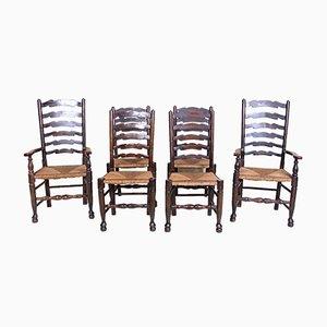 Chaises de Salon Antique en Chêne, Set de 6