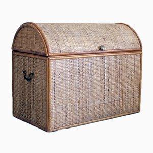 Vintage Koffer aus Korbgeflecht