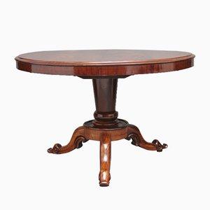Mesa de desayuno de caoba, siglo XIX