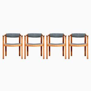 Skandinavische Vintage Esszimmerstühle, 4er Set