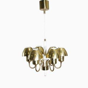 Lámpara de techo de latón de Hans-Agne Jakobsson, años 60